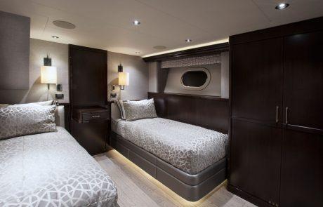 Westport W130 - 40m   Tri-Deck   Guest Stateroom   Twins