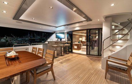 Westport W112   34m Raised Pilothouse   Aft Deck