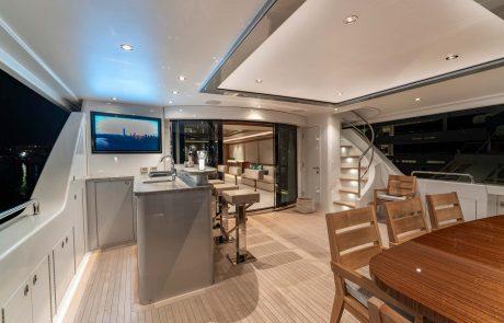 Westport W112   34m Raised Pilothouse   Aft Deck Bar