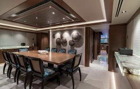 Westport W112   34m Raised Pilothouse   Dining