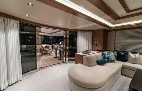 Westport W112   34m Raised Pilothouse   Main Salon Aft Deck