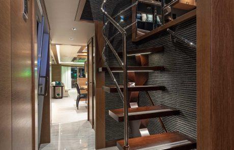 Westport W112   34m Raised Pilothouse   Stairwell