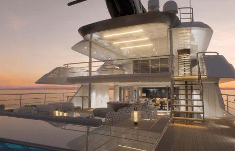 Westport W172   52m Tri-Deck - Aft Deck