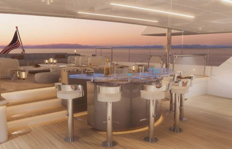 Westport W172   52m Tri-Deck - Aft Deck Bar