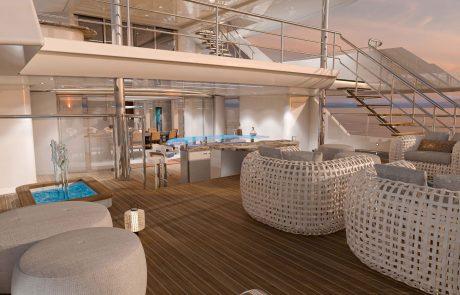Westport W172   52m Tri-Deck - Aft Deck Lounge