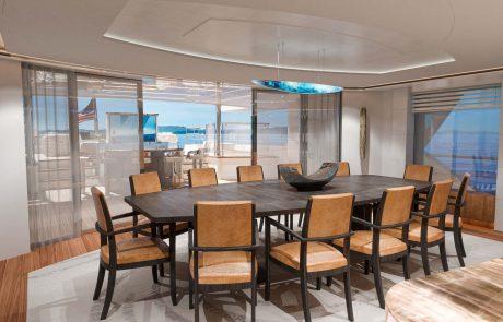 Westport W172   52m Tri-Deck - Dining