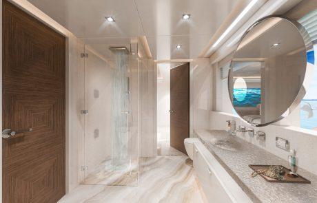 Westport W172   52m Tri-Deck - Master Stateroom - Owner's Bath   Port Side Aft View