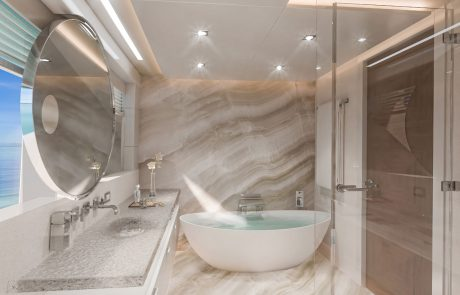 Westport W172   52m Tri-Deck - Master Stateroom - Owner's Bath   Port Side Forward