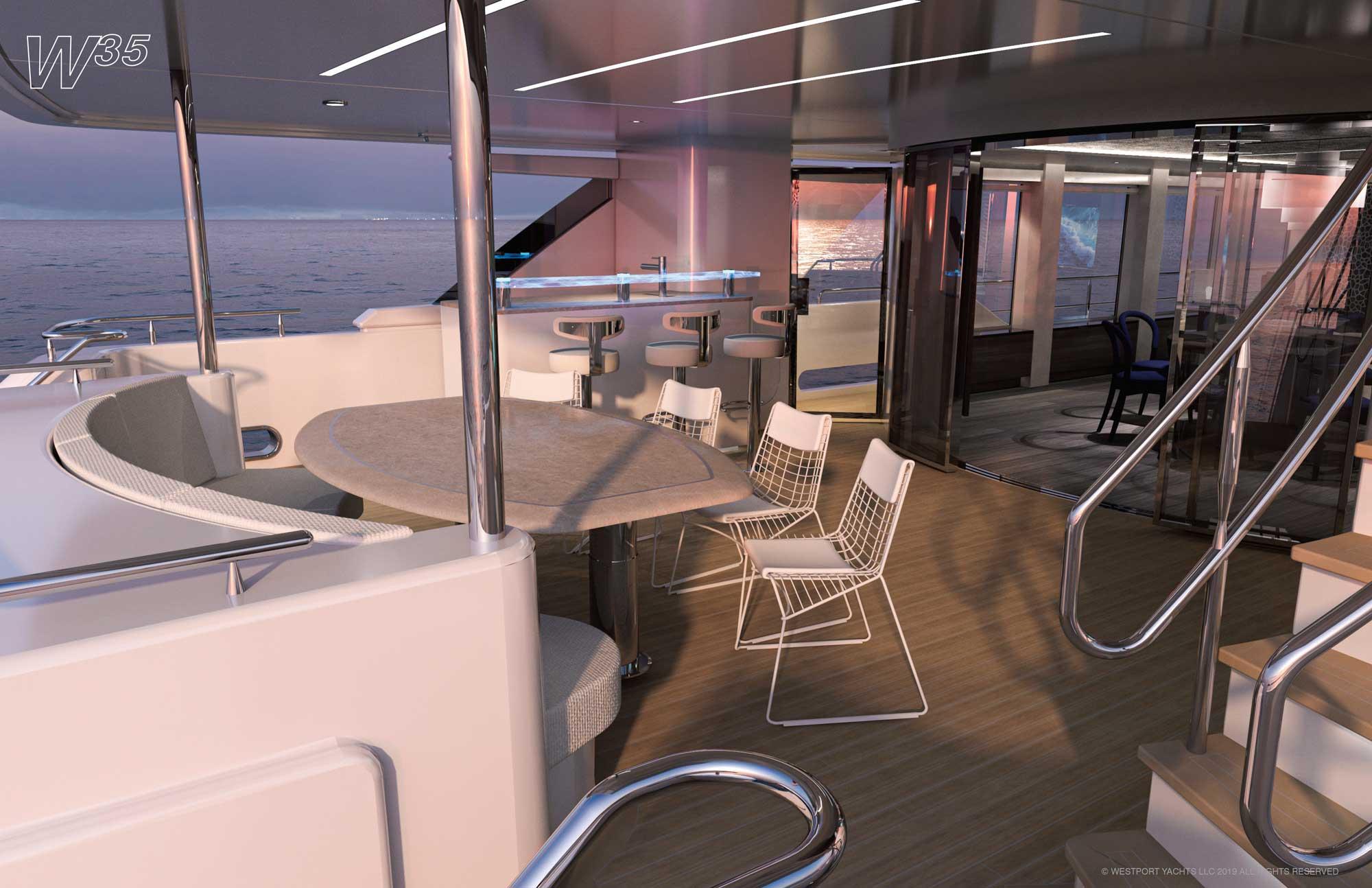 Westport W117 (35m) Aft Deck